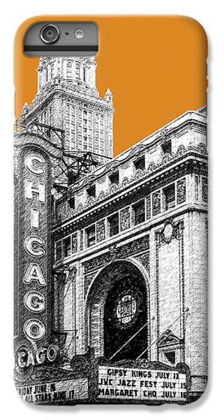 Chicago Theater - Dark Orange IPhone 6 Plus Case by DB Artist