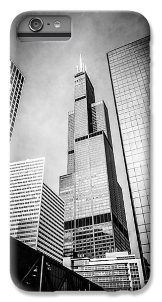 Chicago Willis-sears Tower In Black And White IPhone 6 Plus Case by Paul Velgos