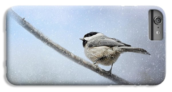 Chickadee In The Snow IPhone 6 Plus Case by Jai Johnson