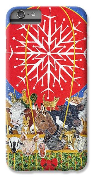 Christmas Journey Oil On Canvas IPhone 6 Plus Case by Pat Scott