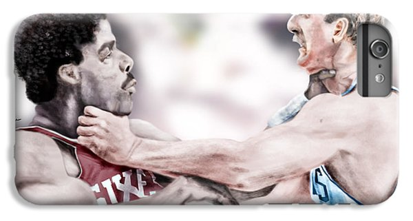 Clash Of The Titans 1984 - Bird And Doctor  J IPhone 6 Plus Case by Reggie Duffie