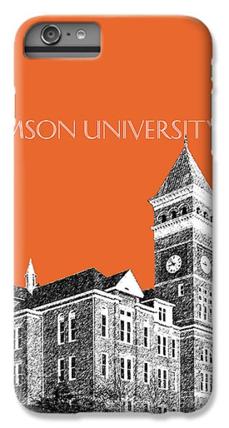 Clemson University - Coral IPhone 6 Plus Case by DB Artist