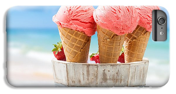 Close Up Strawberry Ice Creams IPhone 6 Plus Case by Amanda Elwell