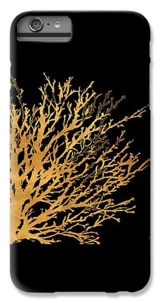 Coastal Coral On Black II IPhone 6 Plus Case by Lanie Loreth