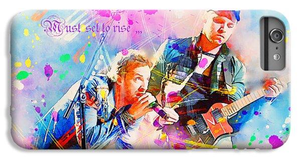Coldplay Lyrics IPhone 6 Plus Case by Rosalina Atanasova
