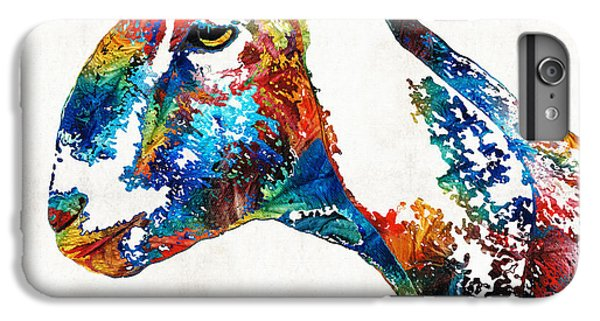 Colorful Goat Art By Sharon Cummings IPhone 6 Plus Case by Sharon Cummings