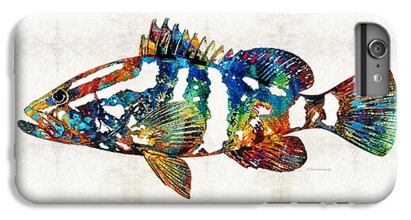 Colorful Grouper 2 Art Fish By Sharon Cummings IPhone 6 Plus Case by Sharon Cummings