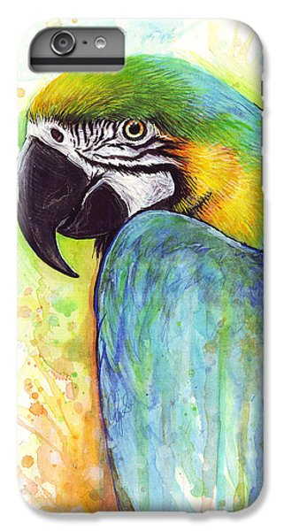 Macaw Painting IPhone 6 Plus Case by Olga Shvartsur