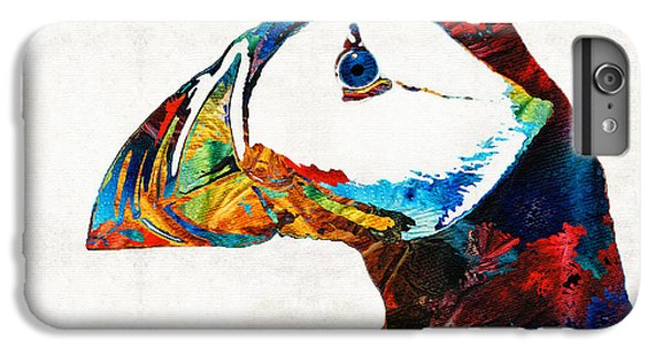 Colorful Puffin Art By Sharon Cummings IPhone 6 Plus Case by Sharon Cummings