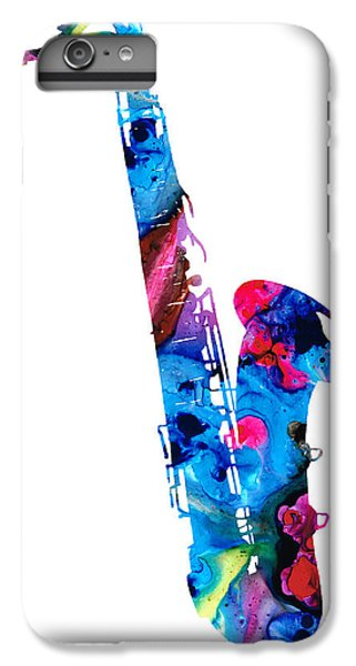 Colorful Saxophone 2 By Sharon Cummings IPhone 6 Plus Case by Sharon Cummings