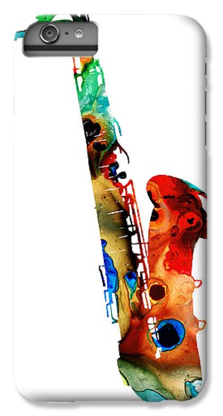 Colorful Saxophone By Sharon Cummings IPhone 6 Plus Case by Sharon Cummings