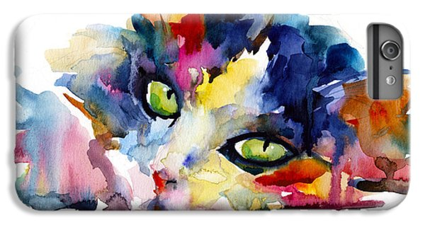 Colorful Tubby Cat Painting IPhone 6 Plus Case by Svetlana Novikova