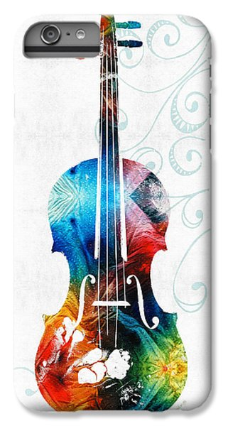 Colorful Violin Art By Sharon Cummings IPhone 6 Plus Case by Sharon Cummings