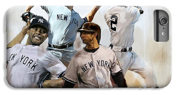 Core  Derek Jeter Mariano Rivera  Andy Pettitte Jorge Posada IPhone 6 Plus Case by Iconic Images Art Gallery David Pucciarelli