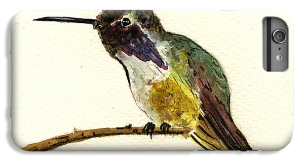 Costa S Hummingbird IPhone 6 Plus Case by Juan  Bosco