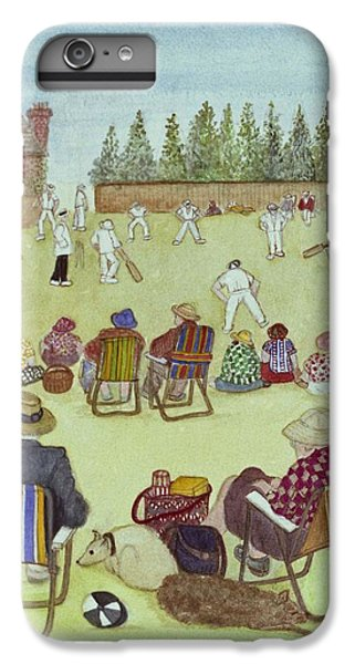 Cricket On The Green, 1987 Watercolour On Paper IPhone 6 Plus Case by Gillian Lawson