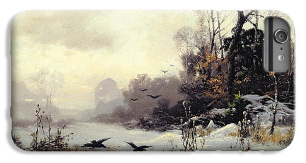 Crows In A Winter Landscape IPhone 6 Plus Case by Karl Kustner