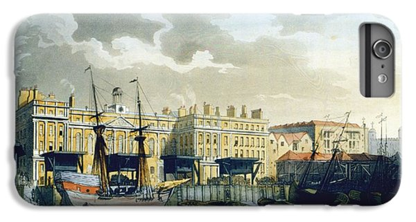 Custom House From The River Thames IPhone 6 Plus Case by T. & Pugin, A.C. Rowlandson