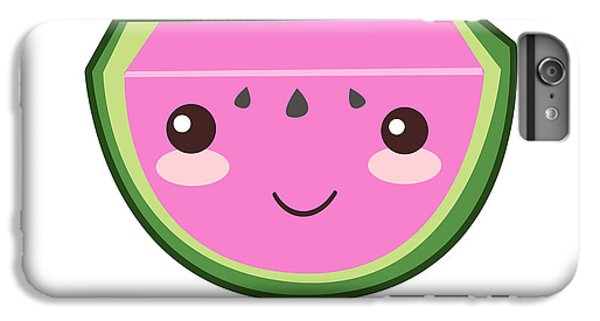 Cute Watermelon Illustration IPhone 6 Plus Case by Pati Photography