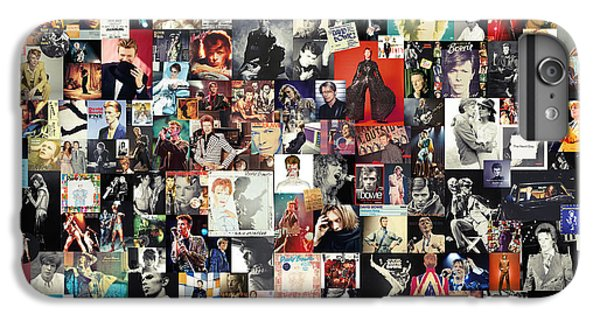 David Bowie Collage IPhone 6 Plus Case by Taylan Soyturk