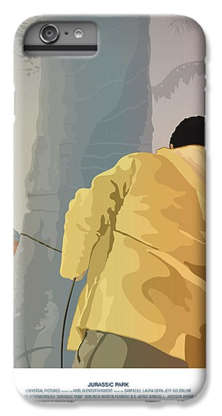 Dennis And The Dilophosaurus - Jurassic Park Poster IPhone 6 Plus Case by Peter Cassidy