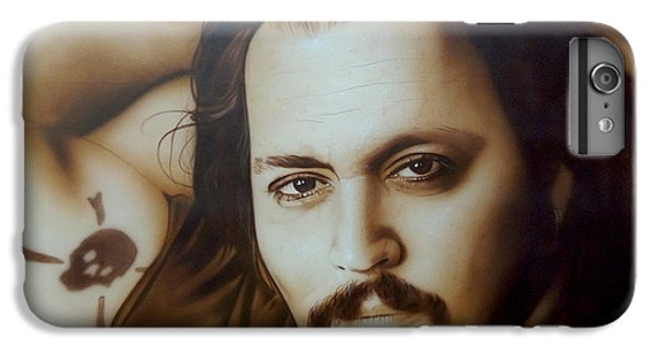 Johnny Depp - ' Depp II ' IPhone 6 Plus Case by Christian Chapman Art