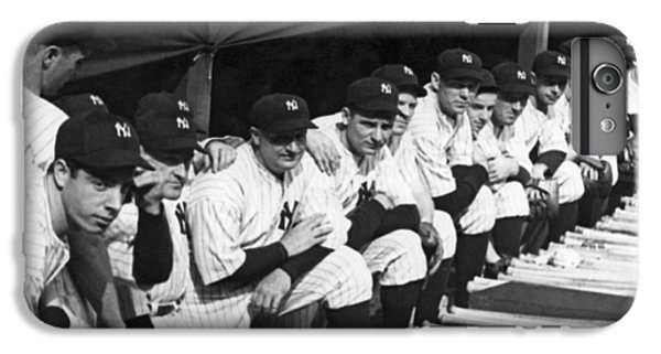 Dimaggio In Yankee Dugout IPhone 6 Plus Case by Underwood Archives