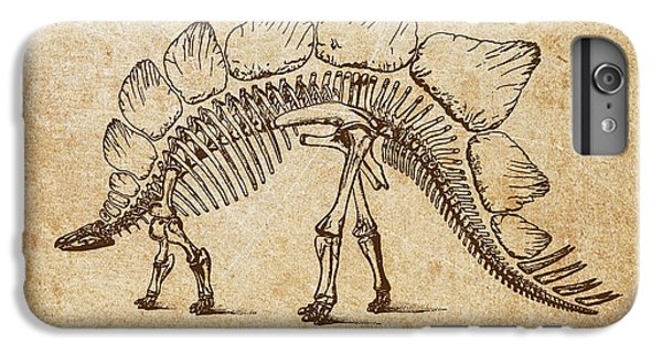Dinosaur Stegosaurus Ungulatus IPhone 6 Plus Case by Aged Pixel