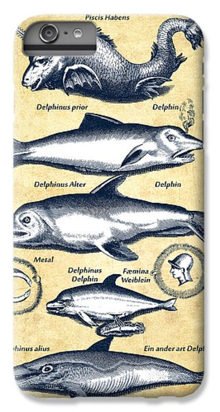 Dolphins - Historiae Naturalis - 1657 - Vintage IPhone 6 Plus Case by Aged Pixel