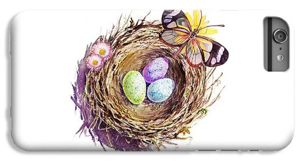 Easter Colors Bird Nest IPhone 6 Plus Case by Irina Sztukowski