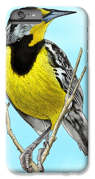 Eastern Meadowlark IPhone 6 Plus Case by Roger Hall