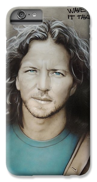 ' Eddie Vedder ' IPhone 6 Plus Case by Christian Chapman Art
