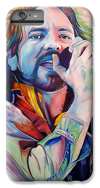 Eddie Vedder In Pink And Blue IPhone 6 Plus Case by Joshua Morton