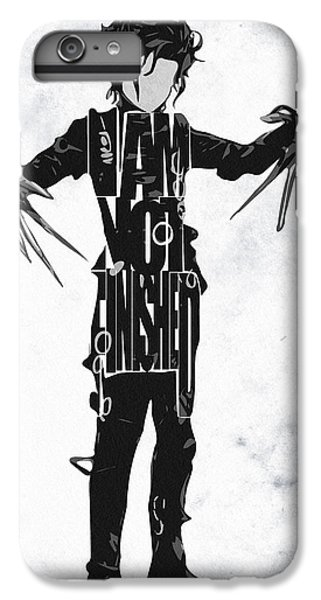 Edward Scissorhands - Johnny Depp IPhone 6 Plus Case by Ayse Deniz