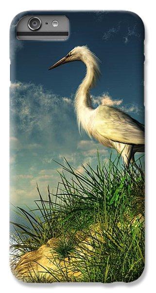 Egret In The Dunes IPhone 6 Plus Case by Daniel Eskridge