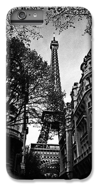 Eiffel Tower Black And White IPhone 6 Plus Case by Andrew Fare