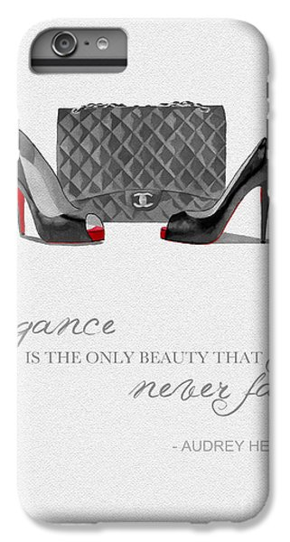 Elegance Never Fades Black And White IPhone 6 Plus Case by Rebecca Jenkins