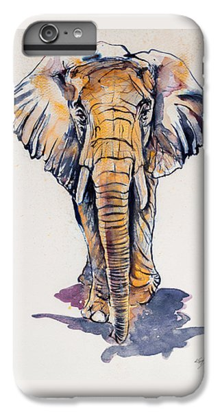 Elephant In Gold IPhone 6 Plus Case by Kovacs Anna Brigitta