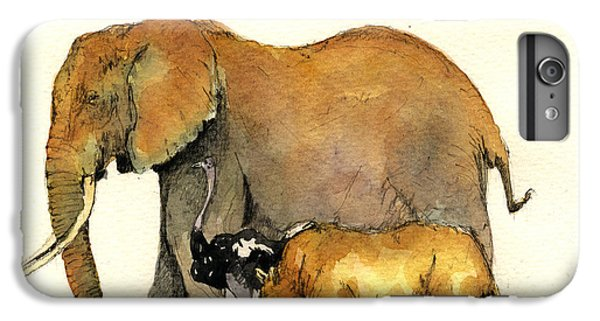 Elephant Ostrich And Rhino IPhone 6 Plus Case by Juan  Bosco