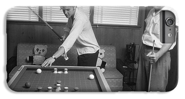 Elvis Presley And Vernon Playing Bumper Pool 1956 IPhone 6 Plus Case by The Phillip Harrington Collection