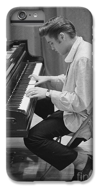 Elvis Presley On Piano While Waiting For A Show To Start 1956 IPhone 6 Plus Case by The Phillip Harrington Collection