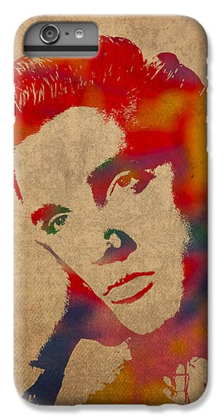 Elvis Presley Watercolor Portrait On Worn Distressed Canvas IPhone 6 Plus Case by Design Turnpike