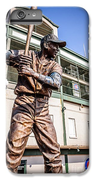 Ernie Banks Statue At Wrigley Field  IPhone 6 Plus Case by Paul Velgos