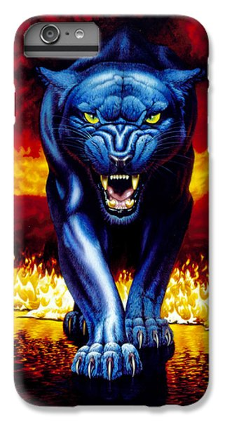 Fire Panther IPhone 6 Plus Case by MGL Studio - Chris Hiett