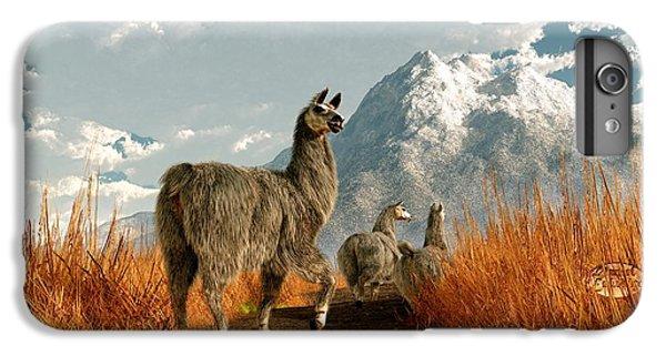 Follow The Llama IPhone 6 Plus Case by Daniel Eskridge