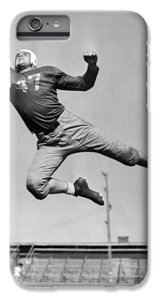 Football Player Catching Pass IPhone 6 Plus Case by Underwood Archives