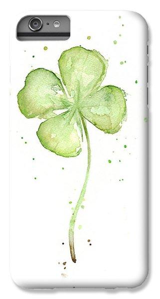 Four Leaf Clover Lucky Charm IPhone 6 Plus Case by Olga Shvartsur