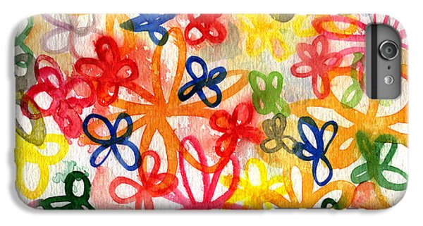 Fresh Flowers IPhone 6 Plus Case by Linda Woods