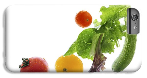 Fresh Vegetables Flying IPhone 6 Plus Case by Elena Elisseeva