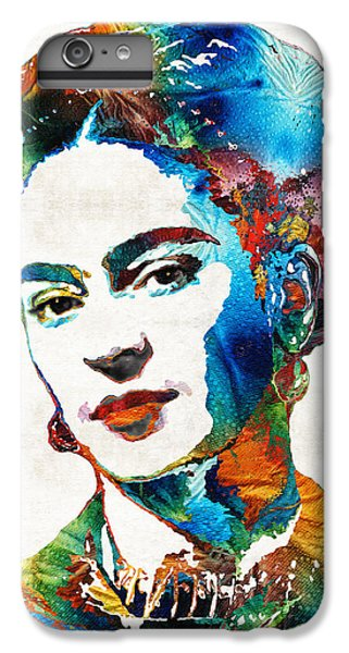 Frida Kahlo Art - Viva La Frida - By Sharon Cummings IPhone 6 Plus Case by Sharon Cummings